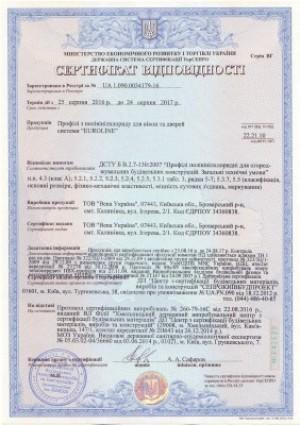 Сертификат VEKA Euroline